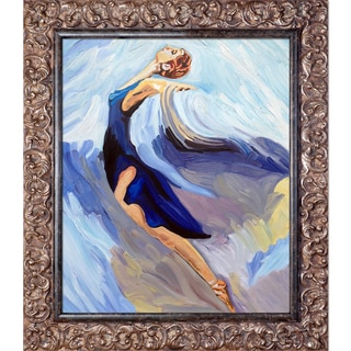 Iris Grover 'The Dance' Hand Painted Framed Canvas Art