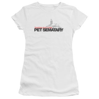 Pet Sematary/Logo Junior Sheer in White