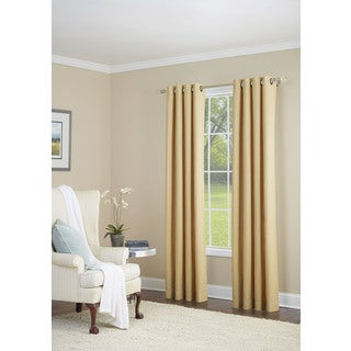 Nanshing Whinfell Gold 52 x 84-inch Grommet-top Single Curtain Panel