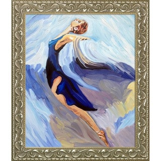 Iris Grover 'The Dance' Hand Painted Framed Canvas Art