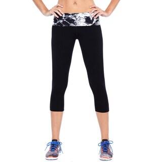 Nikibiki Women's Activewear Nylon/Spandex Tie-dye Yoga Pants