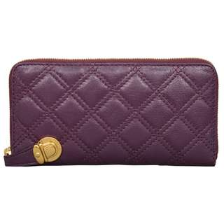 Marc Jacobs The Deluxe Aubergine Leather Wallet