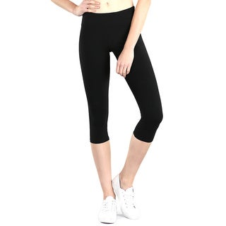 Nikibiki Activewear Black Nylon and Spandex Pocket Capris