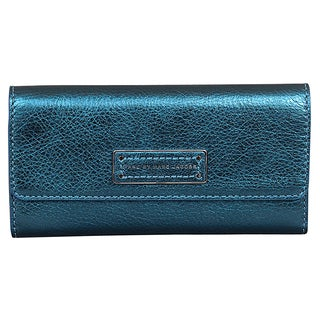 Marc by Marc Jacobs Too Hot to Handle Metallic Blue Long Trifold Wallet