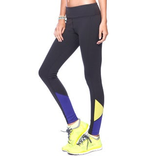 NikiBiki Activewear Womens' Colorblock Contrast Nylon/Spandex Ankle Pants