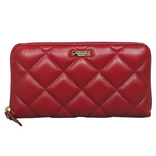 Kate Spade Gold Coast Lacey Garnet Quilted Leather Wallet