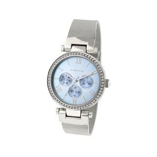 Rampage Women's RP1133SLLB Silverplated Mesh Watch