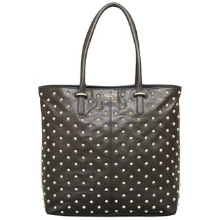 Rebecca Minkoff Studded Lovers Black Leather Tote Bag