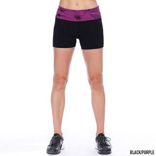 Nikibiki Activewear Women's Short Tie Dye Yoga Pants (Shorts)