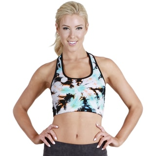 Nikibiki Activewear Women's Twister Tie Dye Racerback Sports Bra Top