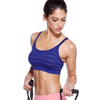Nikibiki Activewear Women's Striped Adjustable Sports Bra Top