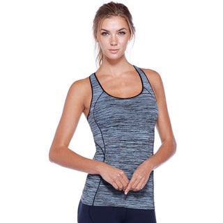 Nikibiki Women's Assorted Nylon/Spandex Activewear Melange Basic Racerback Tank Top
