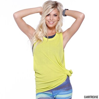 Nikibiki Activewear Women's Nylon Mesh Relaxed Basic Sports Top