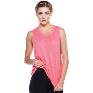 Nikibiki Activewear Women's Nylon Mesh Relaxed Basic Sports Top