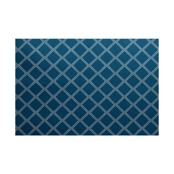 Diamond Dots Geometric Print Indoor/ Outdoor Rug (3' x 5')