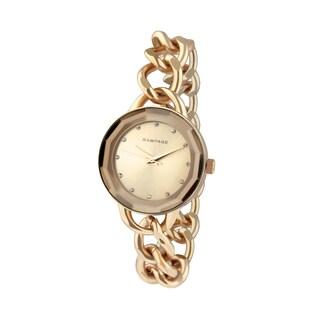 Rampage Women's RP1032RG Rose Goldplated Bracelet Watch