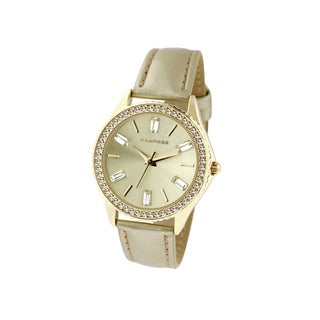 Rampage Women's RP1071GD Goldplated Strap Watch