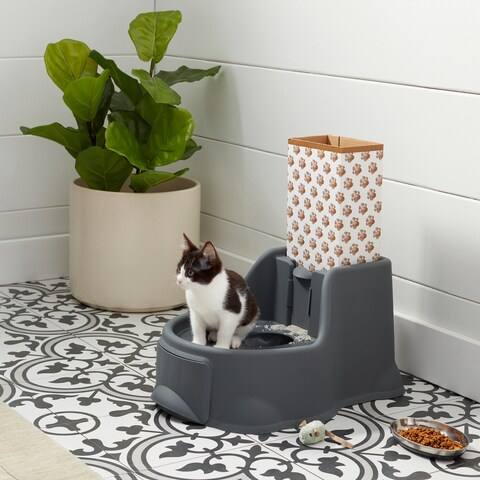 OurPets Kitty Potty Cat Litter Box With Mouse Toy