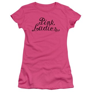 Grease/Pink Ladies Logo Junior Sheer in Hot Pink
