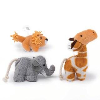 Pet Zone Safari Friends Brown/Grey 3-pack Cat Toys