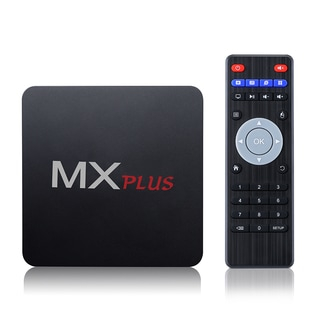 MX Plus Android Wi-Fi Streaming TV Box - Black