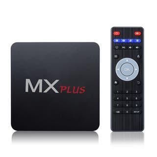 MX Plus Android Wi-Fi Streaming TV Box - Black