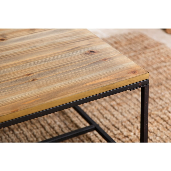 abbyson kirkwood industrial rustic coffee table free shipping today