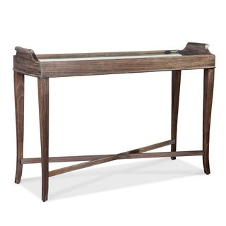 A.R.T. Furniture St. Germain Coffee Brown Distressed Wood/ Veneer Console Table