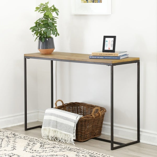 Rustic Sofa Tables For Sale: Shop Abbyson Kirkwood Industrial Rustic Rectangle Sofa