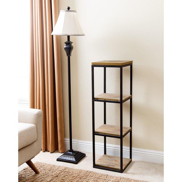 Shop Abbyson Kirkwood Industrial 3-tier Small Bookcase