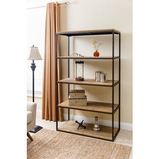 Abbyson Kirkwood Industrial Four-tier Large Bookcase