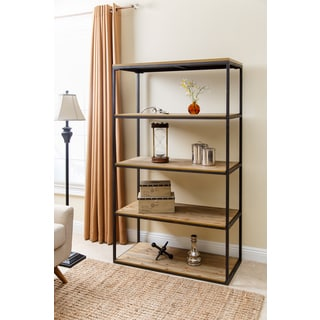 ABBYSON LIVING Kirkwood Industrial Four-tier Large Bookcase