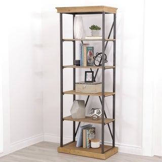Abbyson Dutch Industrial 5-tier Bookcase