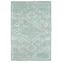 Handmade Collins Mint & Ivory Nomad Rug - 8' x 11'