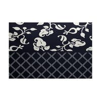 Scroll Dot Floral Print Indoor/ Outdoor Rug (3' x 5')