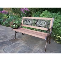 Oakland Living Cast Aluminum/Iron With Wood Garden Bench