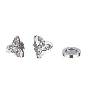 SilverTriangle Knotted Magnetic Earrings