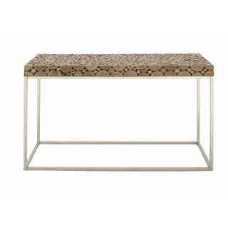 Stainless Steel/Teak Console Table
