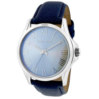 Rampage Women's RP1061SLNV Silverplated Plated Navy Strap Watch