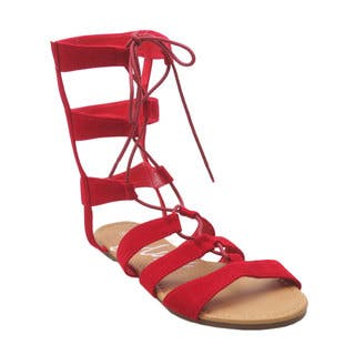 Blue Women's Soudal Red/Silver Faux Leather Gladiator Sandals|https://ak1.ostkcdn.com/images/products/11928520/P18818031.jpg?impolicy=medium
