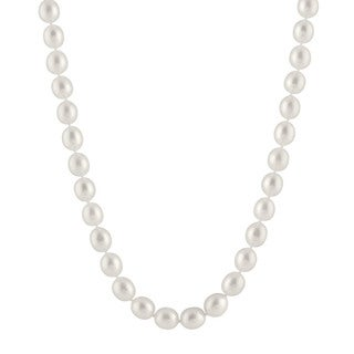 14k White Gold Drop-shaped Pearl Large Necklace