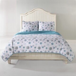 Panama Jack Sand Dollar Cotton 3-piece Quilt Set (Option: Full)