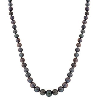 Black Graduated Pearl Necklace