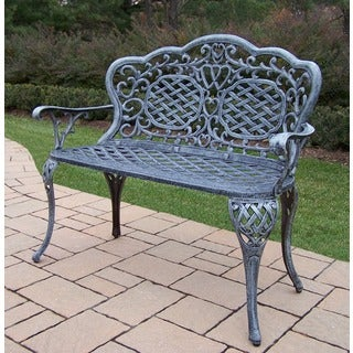 Explorer Verdi Grey Cast Aluminum Water-resistant Loveseat Settee Bench