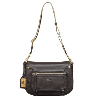 Ralph Lauren Humphrey Chestnut Crossbody Handbag
