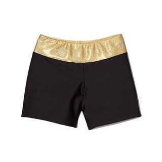 Girl Power Sport Black/ Gold Shorts