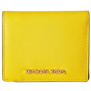 Michael Kors Jet Set Travel Sunflower Flap Card Holder