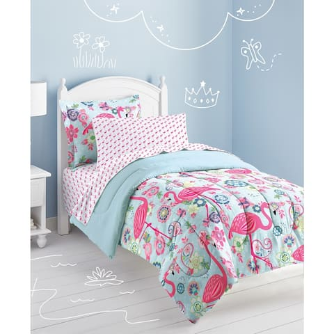 Dream Factory Flamingo 7-piece Bed in a Bag with Sheet Set