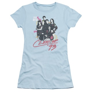 Saved By The Bell/Class Of 93 Junior Sheer in Light Blue