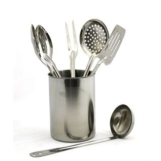 Rainbow Elite Collection Stainless Steel 7 Piece Professional Quality Kitchen  Utensil Set From Nature Home